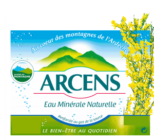 logo eau minérale naturelle gazeuse arcens saphy